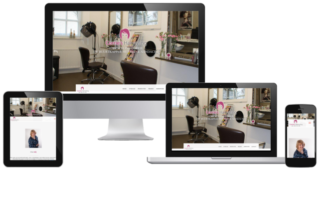 Responsive website corrie's hairstyling